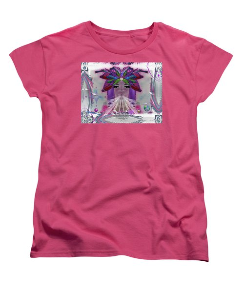 Women's T-Shirt (Standard Cut) featuring the digital art Inhaling Exhaling Peace by Barbara Tristan