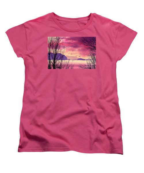 Women's T-Shirt (Standard Cut) featuring the painting Inland Sea Islands by James Williamson