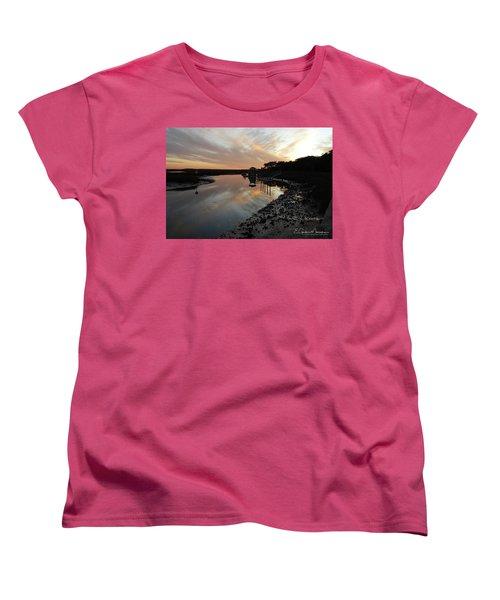 Inlet Sunset Women's T-Shirt (Standard Cut) by Gordon Mooneyhan