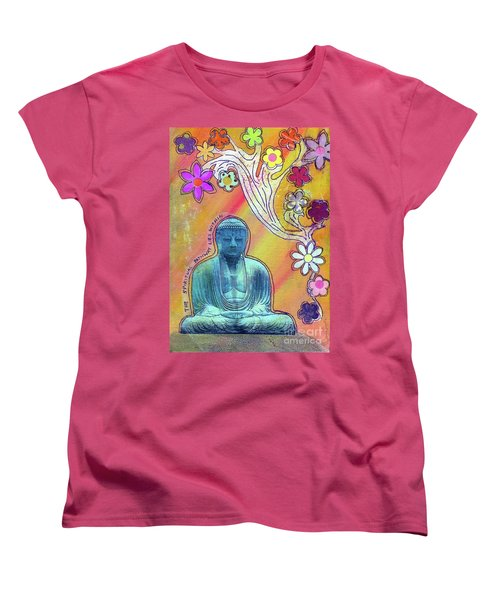 Women's T-Shirt (Standard Cut) featuring the mixed media Inner Bliss by Desiree Paquette