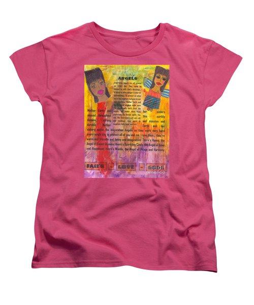 Inspiration Angels II Women's T-Shirt (Standard Cut) by Angela L Walker