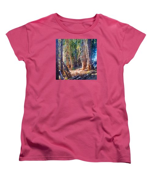 Into The Woods Again Women's T-Shirt (Standard Cut) by Ronda Broatch
