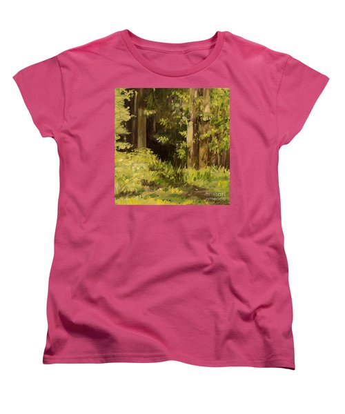 Into The Woods Women's T-Shirt (Standard Cut) by Laurie Rohner