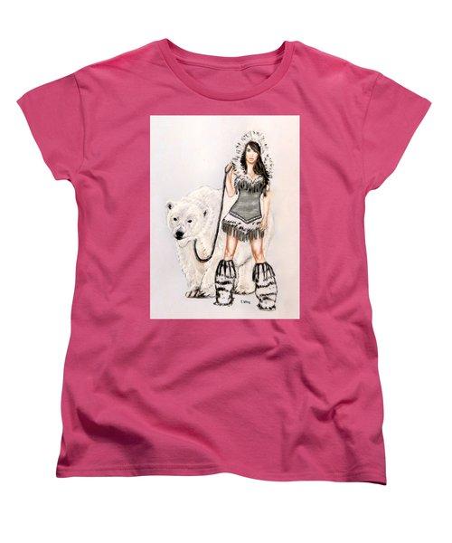 Inuit Pin-up Girl Women's T-Shirt (Standard Cut) by Teresa Wing