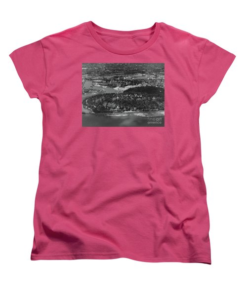 Women's T-Shirt (Standard Cut) featuring the photograph Inwood Hill Park Aerial, 1935 by Cole Thompson