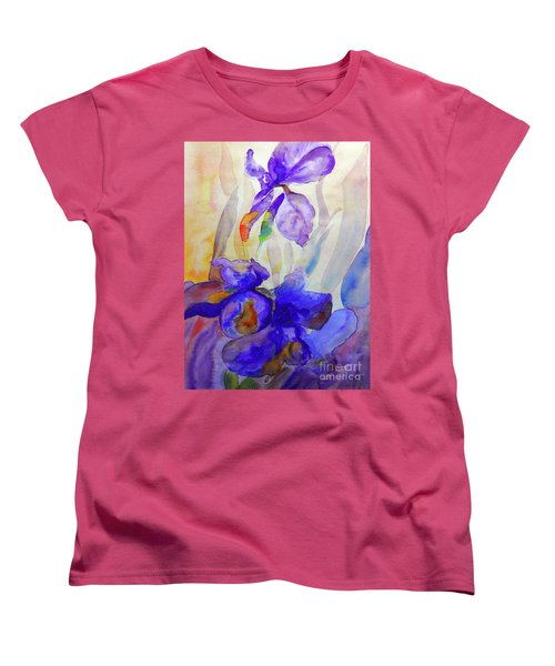 Women's T-Shirt (Standard Cut) featuring the painting Iris by Jasna Dragun