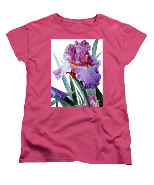 Iris Luciano Pavarotti Women's T-Shirt (Standard Cut) by Greta Corens