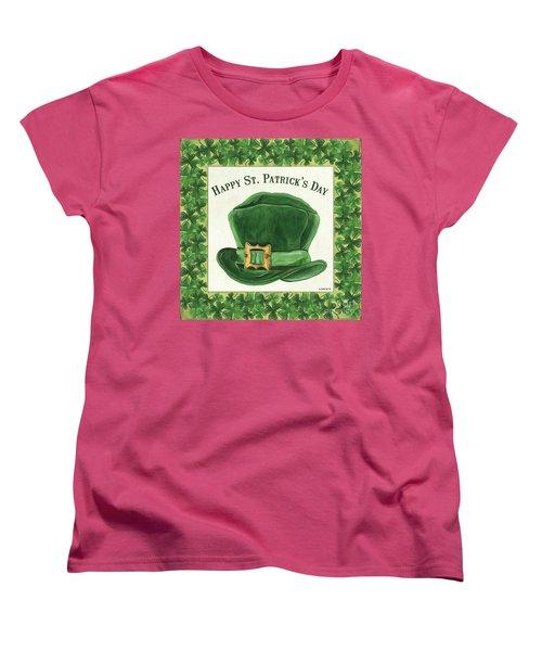 Women's T-Shirt (Standard Cut) featuring the painting Irish Cap by Debbie DeWitt