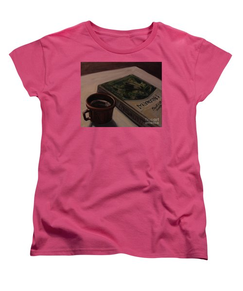 Women's T-Shirt (Standard Cut) featuring the painting It Is Coffee Time by Olimpia - Hinamatsuri Barbu