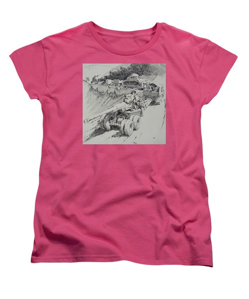 Women's T-Shirt (Standard Cut) featuring the drawing Italy 1943. by Mike Jeffries