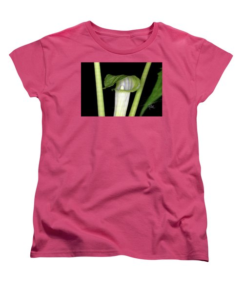 Women's T-Shirt (Standard Cut) featuring the photograph Jack In The Pulpit by Meta Gatschenberger
