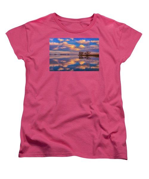 Women's T-Shirt (Standard Cut) featuring the photograph Jackson Lake Sunset by Darren White