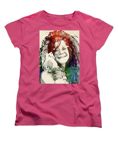 Janis Joplin Women's T-Shirt (Standard Cut) by Mihaela Pater