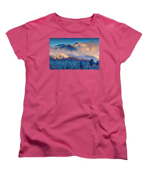 January Evening Truchas Peak Women's T-Shirt (Standard Cut) by Anastasia Savage Ealy