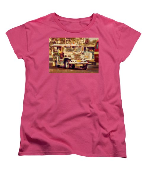Jeepney Manila Women's T-Shirt (Standard Cut) by David French