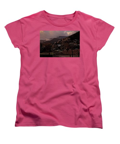 Women's T-Shirt (Standard Cut) featuring the photograph Jerome On The Edge Of Sunrise by Ron Chilston