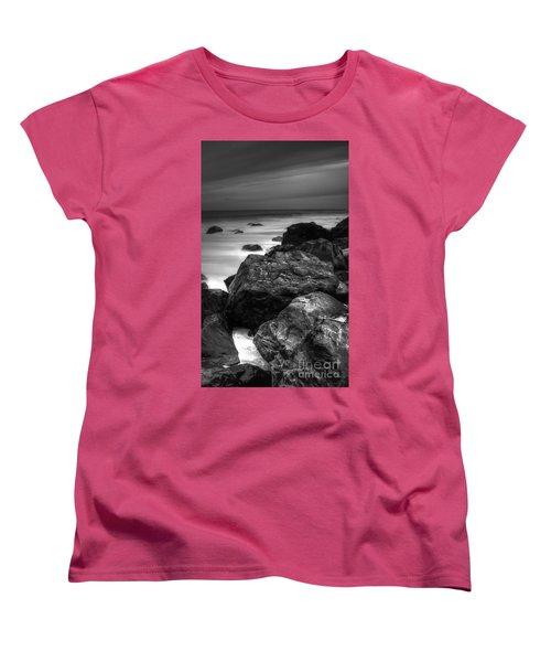 Jersey Shore At Night Women's T-Shirt (Standard Cut) by Paul Ward