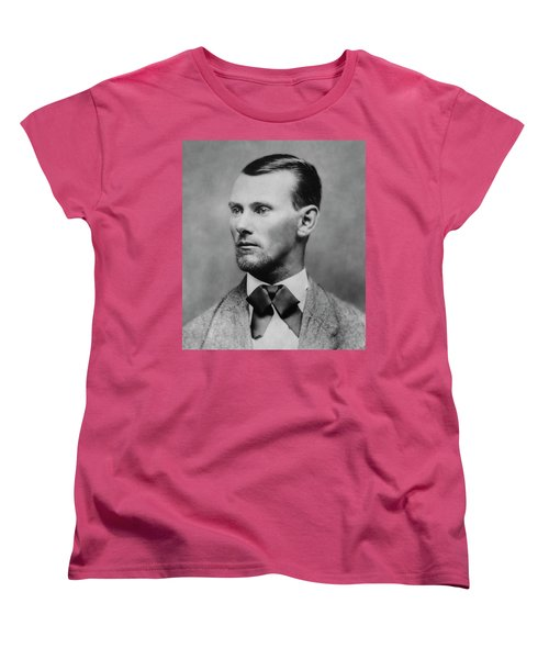 Jesse James -- American Outlaw Women's T-Shirt (Standard Cut) by Daniel Hagerman