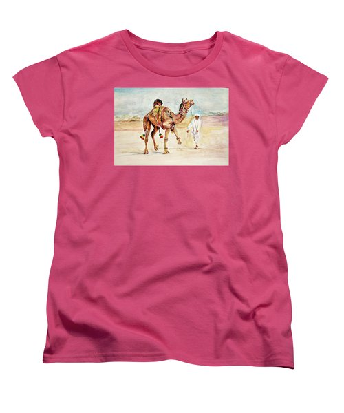 Jewellery And Trappings On Camel. Women's T-Shirt (Standard Cut) by Khalid Saeed