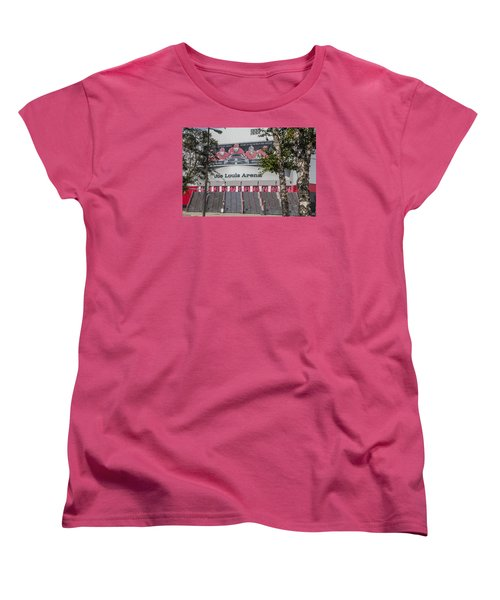 Joe Louis Arena And Trees Women's T-Shirt (Standard Cut)
