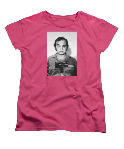 John Belushi Mug Shot For Film Vertical Women's T-Shirt (Standard Cut) by Tony Rubino