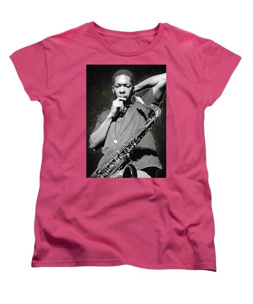 John Coltrane Women's T-Shirt (Standard Cut) by Semih Yurdabak