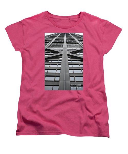 John Hancock Building Women's T-Shirt (Standard Cut) by Mary Machare