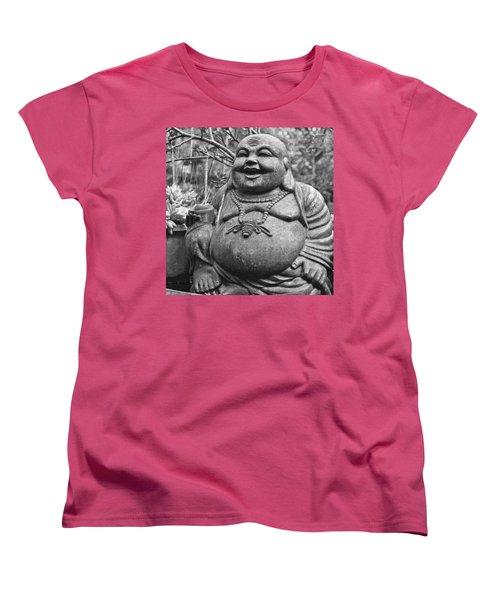 Joyful Lord Buddha Women's T-Shirt (Standard Cut) by Karon Melillo DeVega