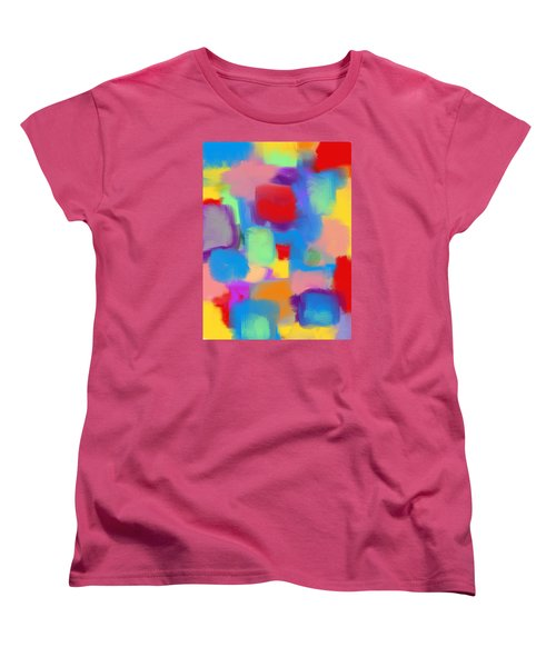 Juicy Shapes And Colors Women's T-Shirt (Standard Cut) by Susan Stone