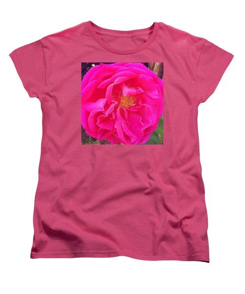 Just A Rose...#floral #flowers #pink Women's T-Shirt (Standard Cut) by Jennifer Beaudet