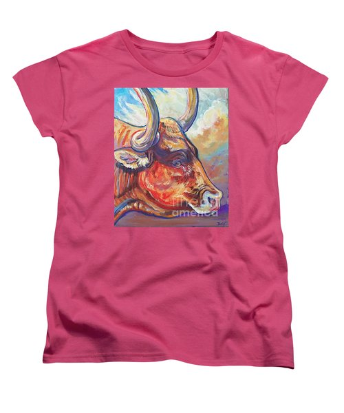 Just Looking Women's T-Shirt (Standard Cut) by Jenn Cunningham