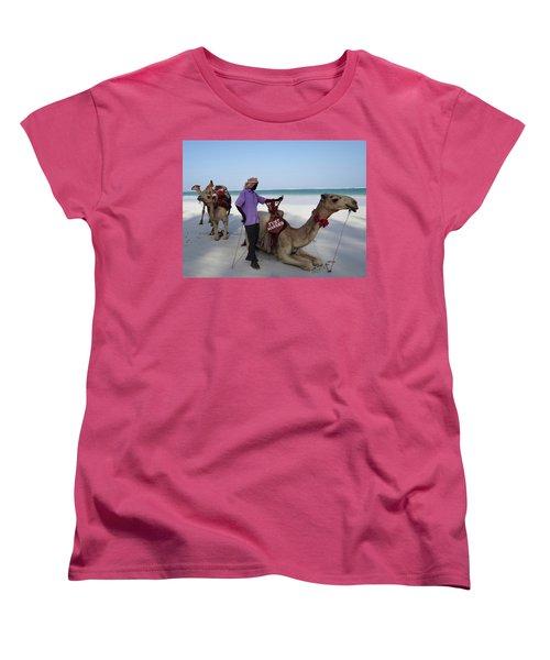 Just Married Camels Kenya Beach 2 Women's T-Shirt (Standard Cut) by Exploramum Exploramum