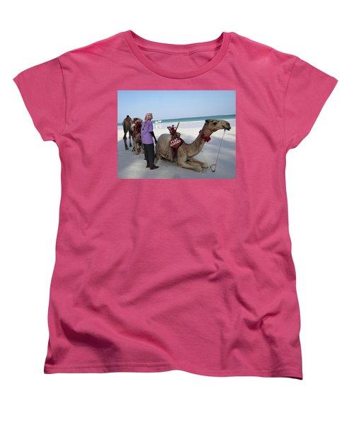 Just Married Camels Kenya Beach Women's T-Shirt (Standard Fit)