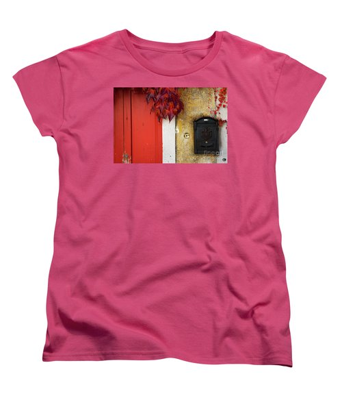 Women's T-Shirt (Standard Cut) featuring the photograph Just Red by Yuri Santin