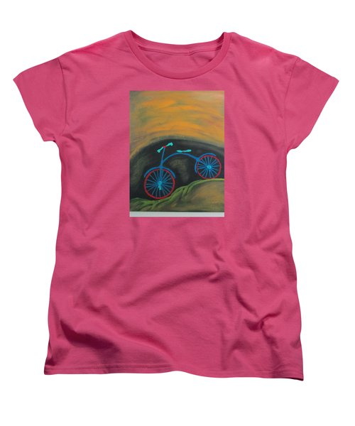 Women's T-Shirt (Standard Cut) featuring the painting Just Roamin by Sharyn Winters