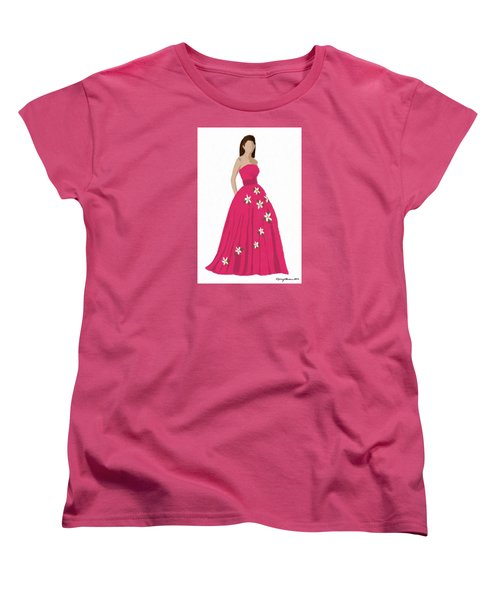 Women's T-Shirt (Standard Cut) featuring the digital art Justine by Nancy Levan