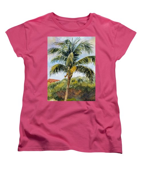 Kaanapali Palm Women's T-Shirt (Standard Cut) by William Reed