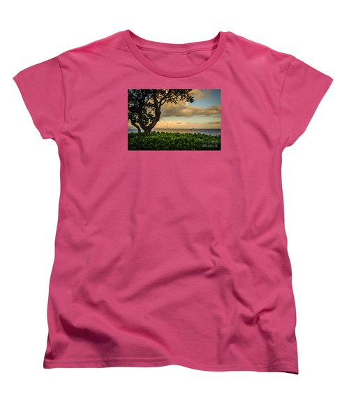 Women's T-Shirt (Standard Cut) featuring the photograph Ka'anapali Plumeria Tree by Kelly Wade