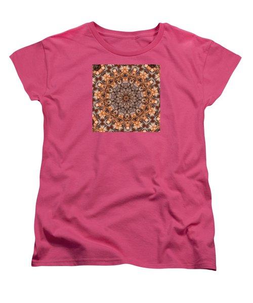 Kaleidoscope 121 Women's T-Shirt (Standard Cut) by Ron Bissett