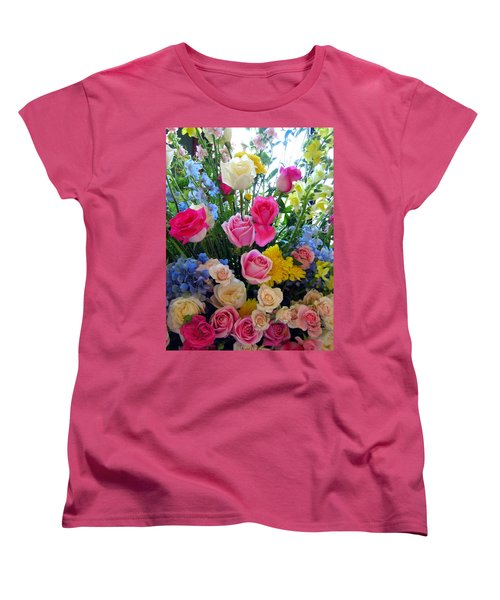 Kate's Flowers Women's T-Shirt (Standard Cut) by Carla Parris