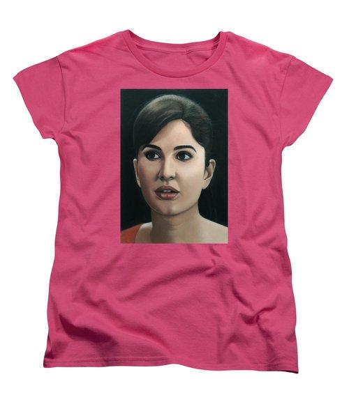 Katrina Kaif Women's T-Shirt (Standard Cut) by Vishvesh Tadsare