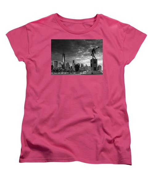 Women's T-Shirt (Standard Cut) featuring the photograph Katyn New World Trade Center In New York by Ranjay Mitra
