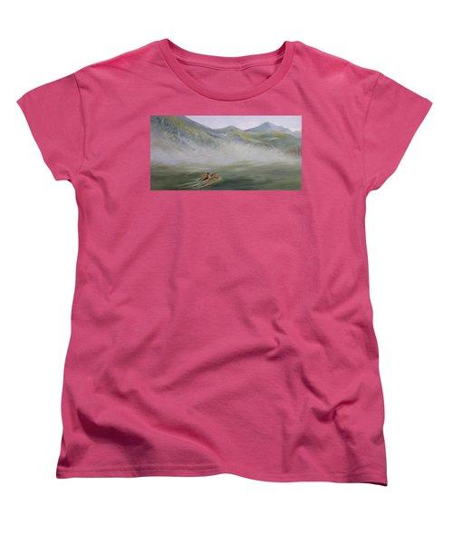 Kayaking Through The Fog Women's T-Shirt (Standard Cut) by Joanne Smoley