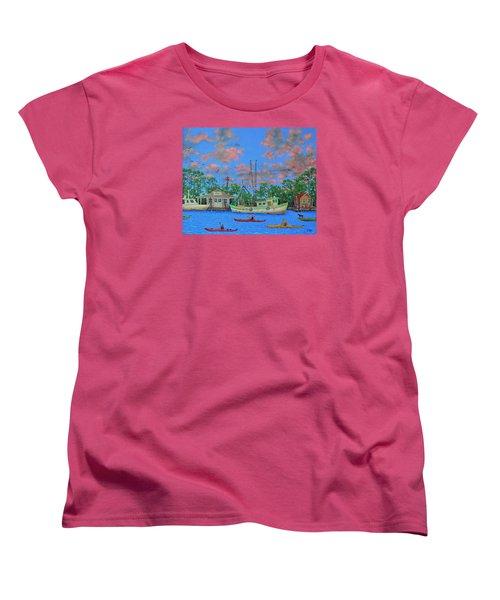 kayaks on the Creek Women's T-Shirt (Standard Cut) by Dwain Ray