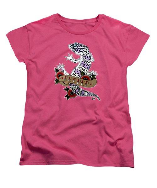 Keeper Leopard Gecko Women's T-Shirt (Standard Cut) by Donovan Winterberg