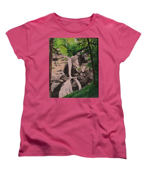Kent Falls Women's T-Shirt (Standard Cut) by Hilda and Jose Garrancho