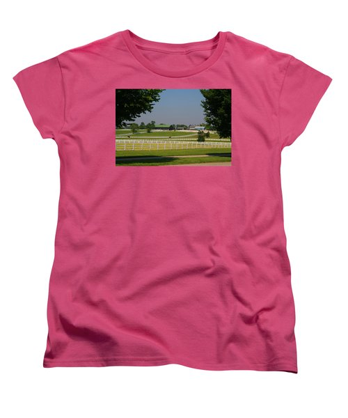 Kentucky Horse Park Women's T-Shirt (Standard Cut) by Kathryn Meyer