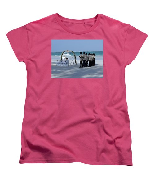 Kenya Wedding On Beach Singers Women's T-Shirt (Standard Fit)