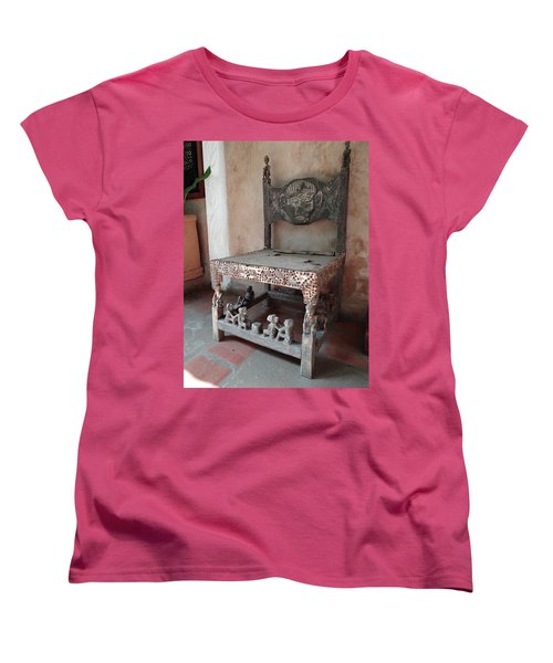 Kenyan African Antique Carved Chair Women's T-Shirt (Standard Fit)