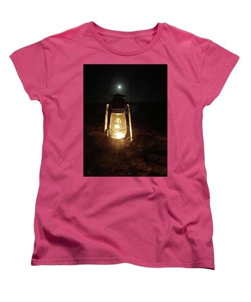 Kerosine Lantern In The Moonlight Women's T-Shirt (Standard Cut) by Exploramum Exploramum